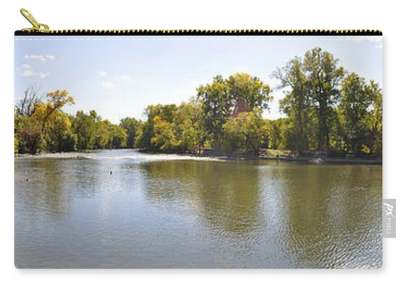 Panorama Carry-all Pouch featuring the photograph Desplaines River by Verana Stark