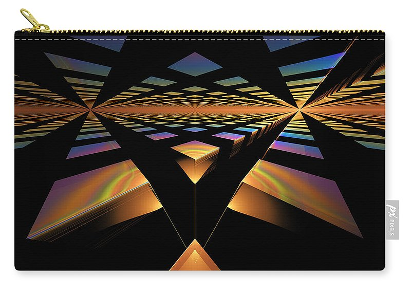 Digital Carry-all Pouch featuring the digital art Destination Paths by Gary Blackman