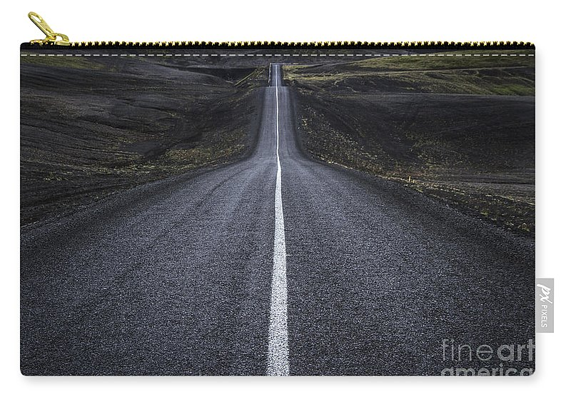 Landmannalaugar Carry-all Pouch featuring the photograph Destination Unknown by Evelina Kremsdorf
