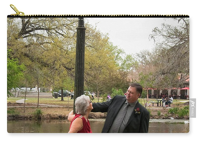 Destination Carry-all Pouch featuring the photograph Destination Wedding-m And D-6 by Kathleen K Parker