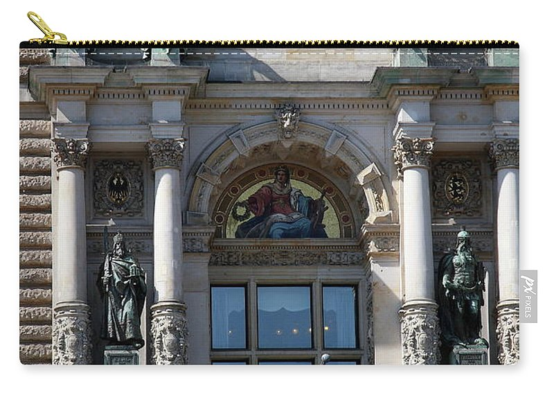 City Hall Carry-all Pouch featuring the photograph Detail City Hall Hamburg II by Christiane Schulze Art And Photography