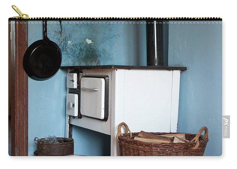 Hanging Carry-all Pouch featuring the photograph Detail Of An Old-fashioned Kitchen by Halfdark