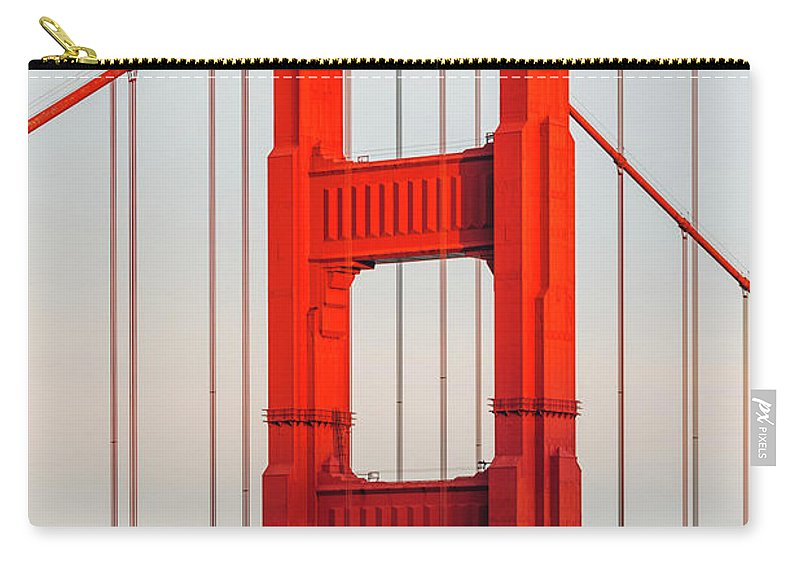 California Carry-all Pouch featuring the photograph Detail Of Golden Gate Bridge, San by Deimagine