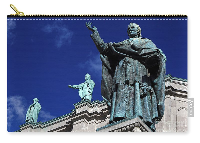 Travel Carry-all Pouch featuring the photograph Detail Of Mary Queen Of The World Cathedral by Jason O Watson