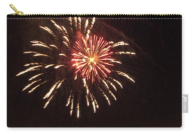 Cities Carry-all Pouch featuring the photograph Detroit Area Fireworks -1 by Paul Cannon