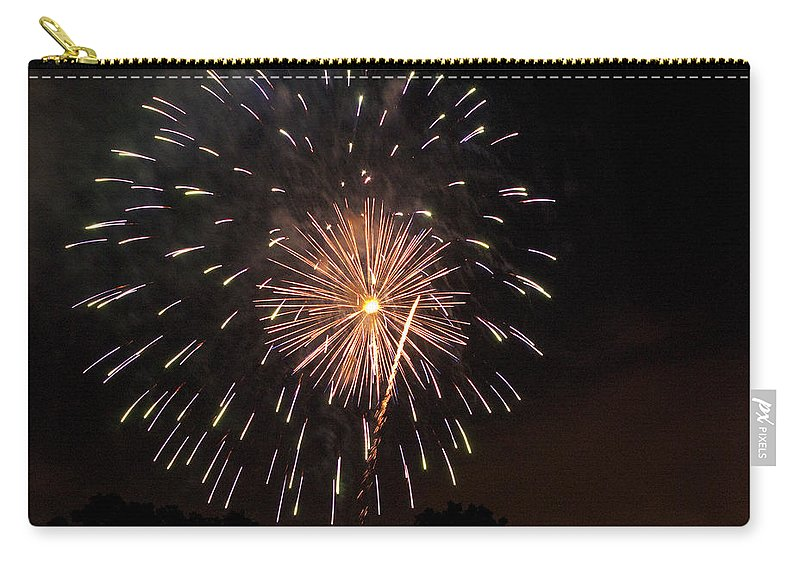 Cities Carry-all Pouch featuring the photograph Detroit Area Fireworks -10 by Paul Cannon