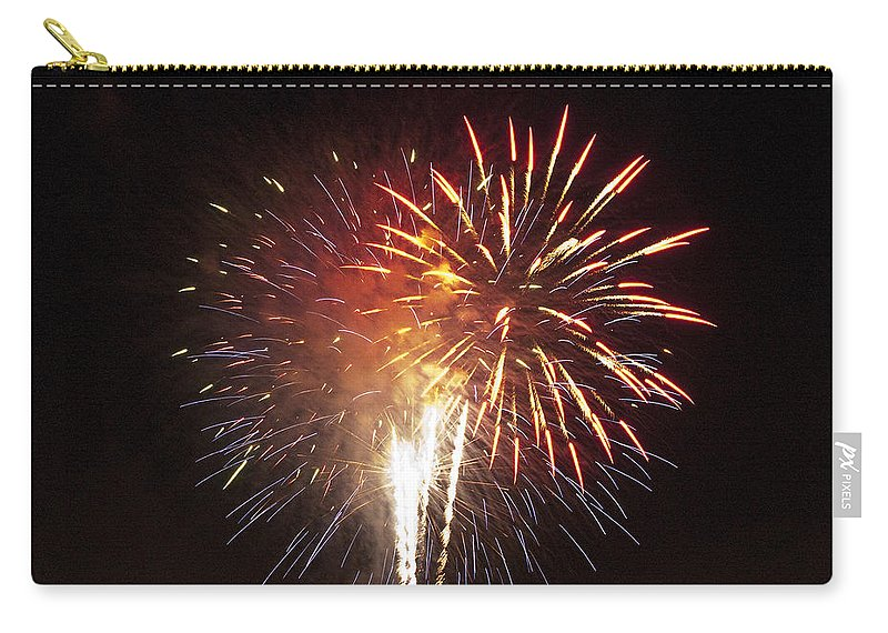 Cities Carry-all Pouch featuring the photograph Detroit Area Fireworks -2 by Paul Cannon