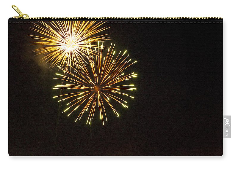 Cities Carry-all Pouch featuring the photograph Detroit Area Fireworks -3 by Paul Cannon