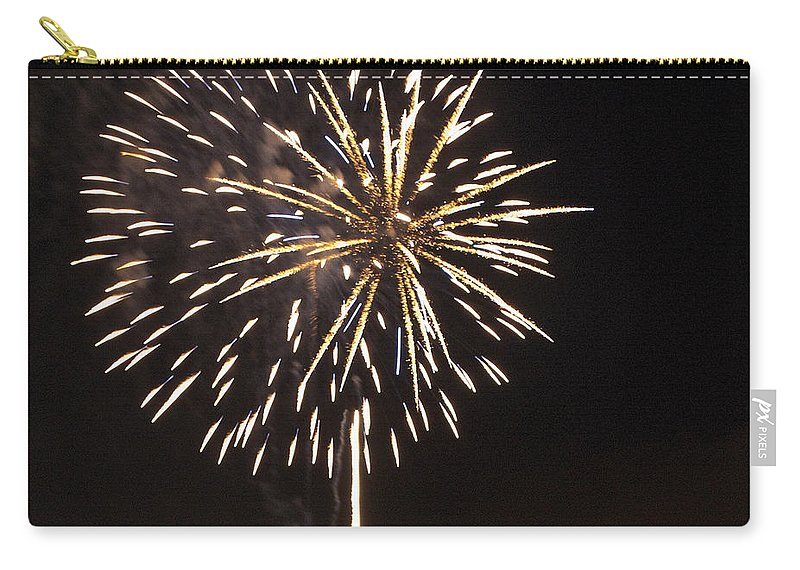 Cities Carry-all Pouch featuring the photograph Detroit Area Fireworks -4 by Paul Cannon