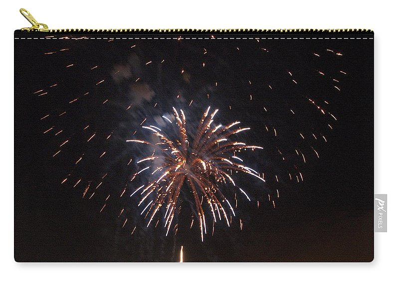Cities Carry-all Pouch featuring the photograph Detroit Area Fireworks -5 by Paul Cannon