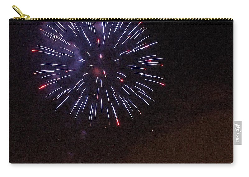 Cities Carry-all Pouch featuring the photograph Detroit Area Fireworks -9 by Paul Cannon