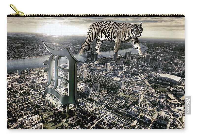Giant Tiger Carry-all Pouch featuring the photograph Detroit by Nicholas Grunas