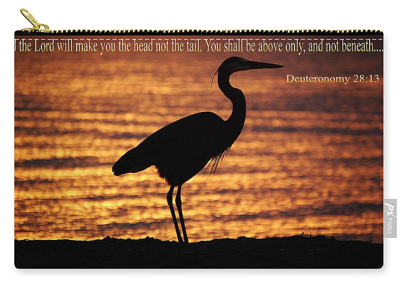 Bible Carry-all Pouch featuring the photograph Deuteronomy 28 Verse 13 by Leticia Latocki