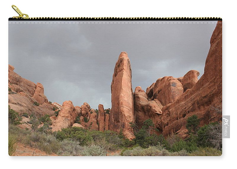 Rocks Carry-all Pouch featuring the photograph Devils Garden Arches Np by Christiane Schulze Art And Photography
