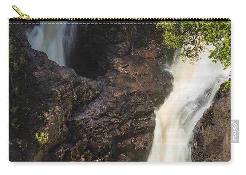 Waterfall Carry-all Pouch featuring the photograph Devils Kettle Falls 1 by John Brueske