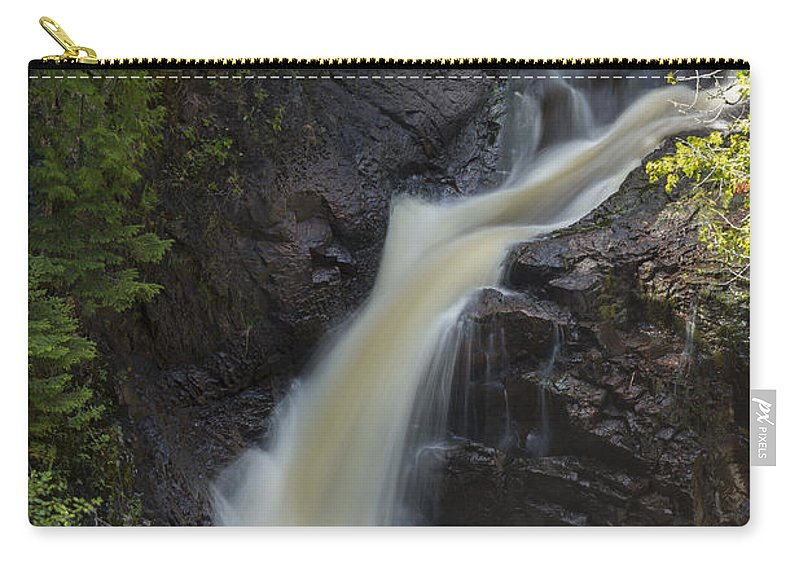 Waterfall Carry-all Pouch featuring the photograph Devils Kettle Falls 3 by John Brueske