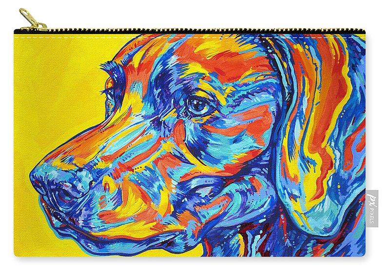 Dog Carry-all Pouch featuring the painting Devoted Friend by Derrick Higgins