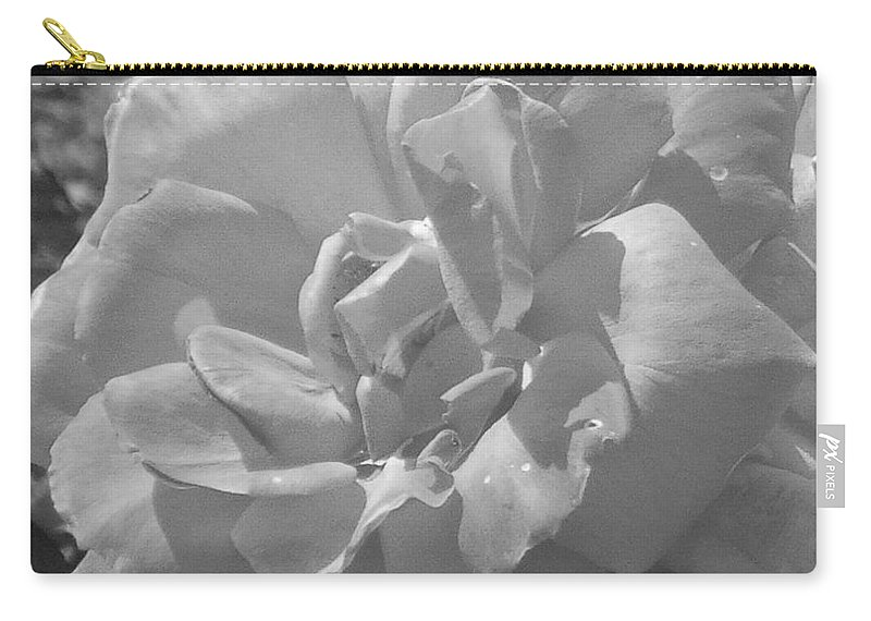 Rose Carry-all Pouch featuring the photograph Dew Rose by Pharris Art
