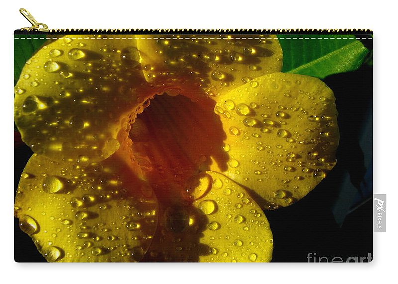 Patzer Carry-all Pouch featuring the photograph Dew Trumpet by Greg Patzer