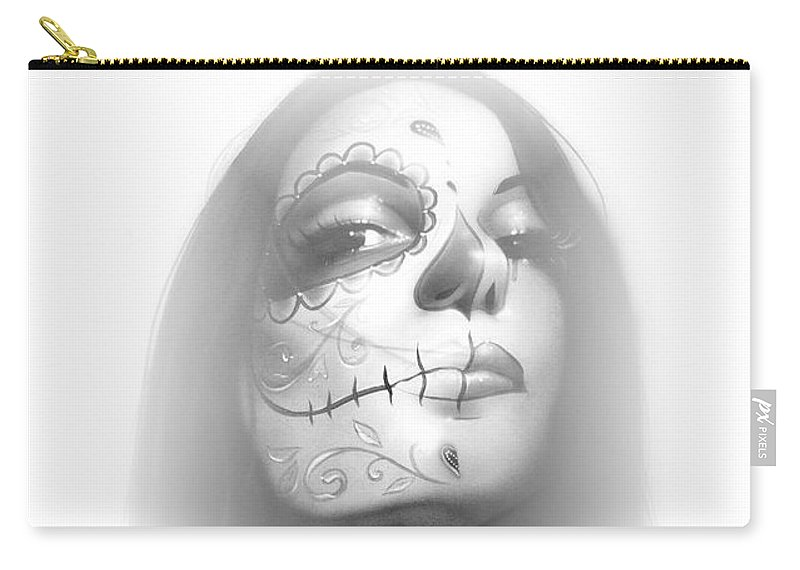 Sugar Carry-all Pouch featuring the painting Dia De Los Muertos Rachel by Christian Chapman Art