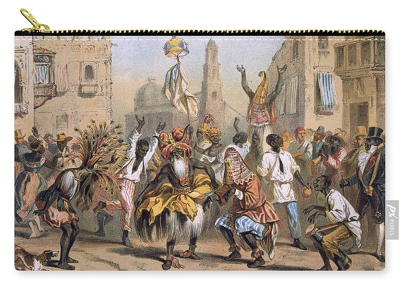 Dia De Reyes Carry-all Pouch featuring the drawing Dia De Reyes, Cuba by Cuban School