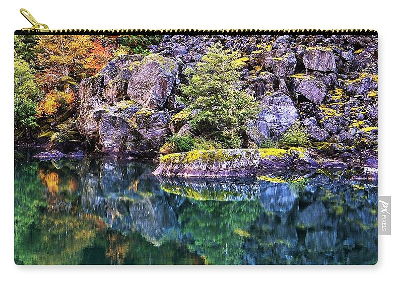 Lake Carry-all Pouch featuring the photograph Diablo Lake Reflection by Benjamin Yeager