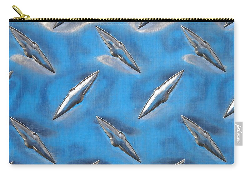 Artoffoxvox Carry-all Pouch featuring the photograph Diamond Plate Sky by Kristen Fox