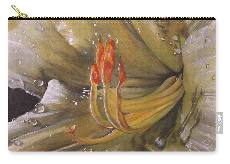 Daylily Carry-all Pouch featuring the painting Diamonds by Barbara Keith
