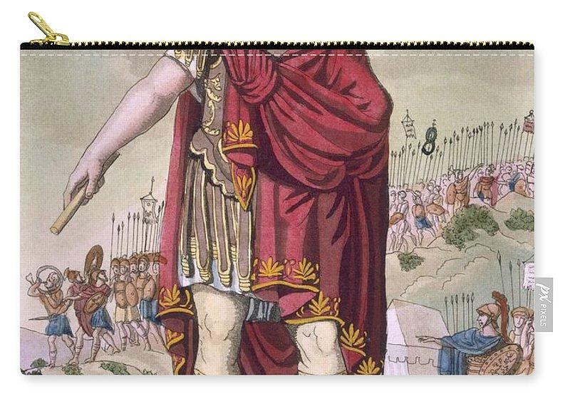 L'antique Rome Carry-all Pouch featuring the drawing Dictator, 1796 by Jacques Grasset de Saint-Sauveur