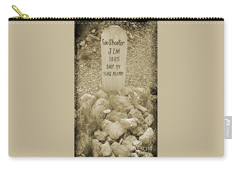 Famous Graveyards Carry-all Pouch featuring the photograph Died 1885 Tomstone Arizona by John Malone