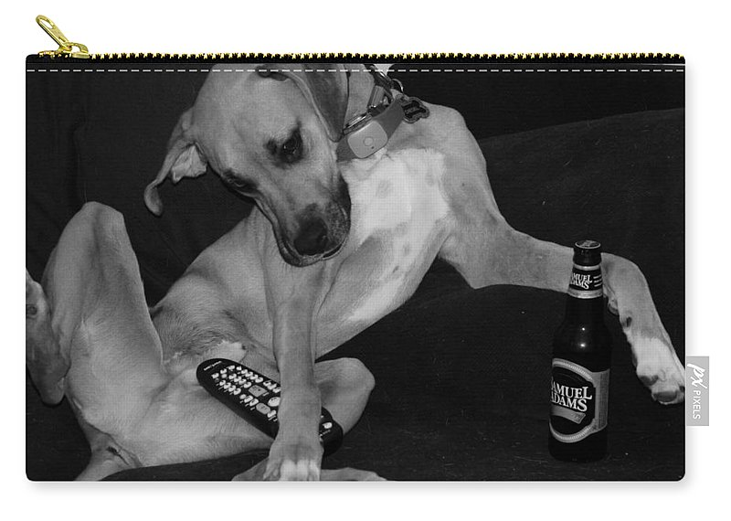 Black And White Carry-all Pouch featuring the photograph Diesel In Black And White by Rob Hans
