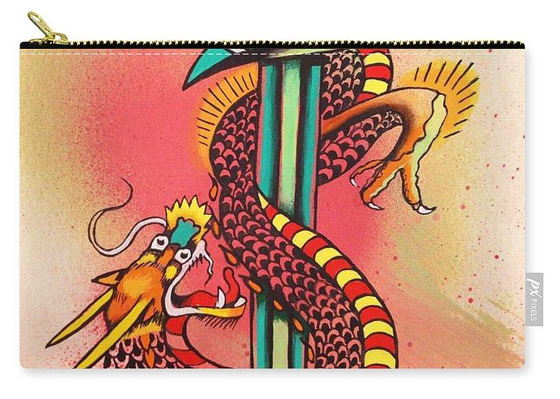 Dietzel Carry-all Pouch featuring the painting Dietzel Dagger by Britt Kuechenmeister