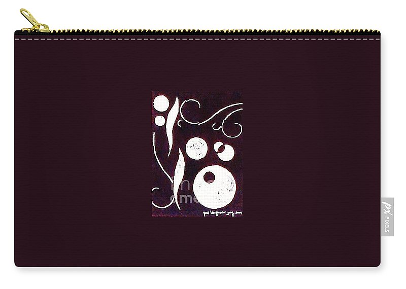 Abstract Carry-all Pouch featuring the relief Different by Yael VanGruber
