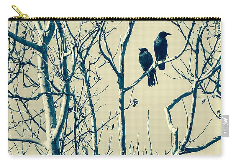Blackbirds Carry-all Pouch featuring the photograph Differing Views by Caitlyn Grasso