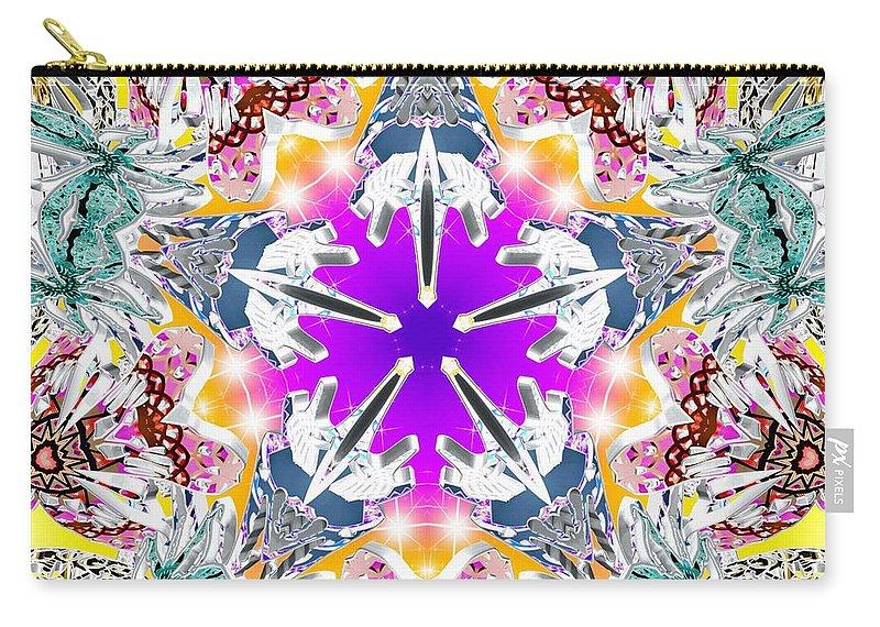 Sacredlife Mandalas Carry-all Pouch featuring the digital art Dimensional Birth by Derek Gedney
