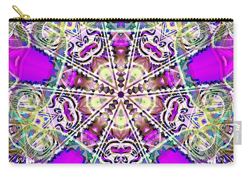 Sacredlife Mandalas Carry-all Pouch featuring the digital art Dimensional Crossover by Derek Gedney