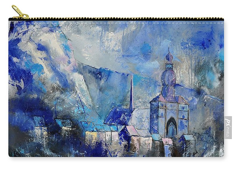 Landscape Carry-all Pouch featuring the painting Dinant In Blue by Pol Ledent