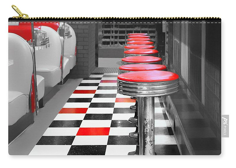 Diners Carry-all Pouch featuring the photograph Diner - 1 by Nikolyn McDonald
