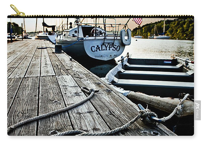 Nautical Carry-all Pouch featuring the photograph Dingy by Sennie Pierson