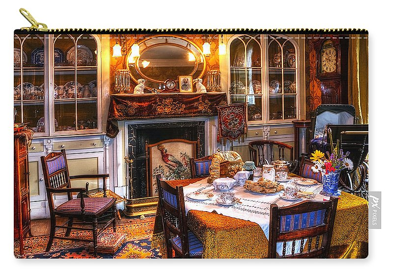 Beamish Carry-all Pouch featuring the photograph Dinning Room by Svetlana Sewell