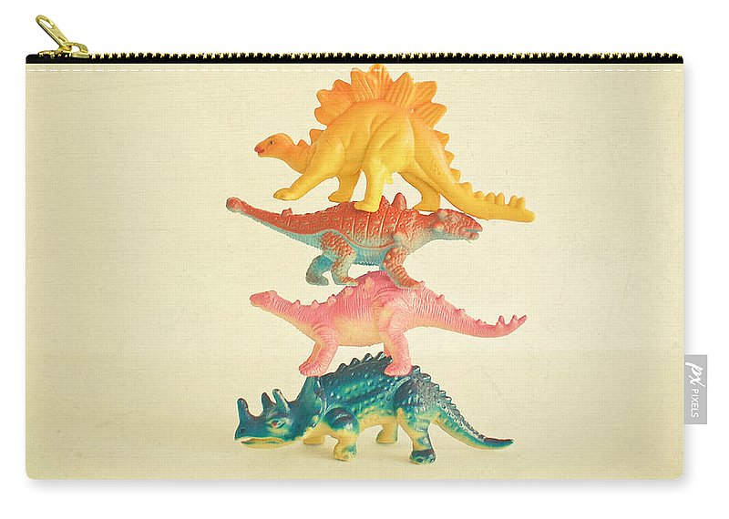Dinosaurs Carry-all Pouch featuring the photograph Dinosaur Antics by Cassia Beck