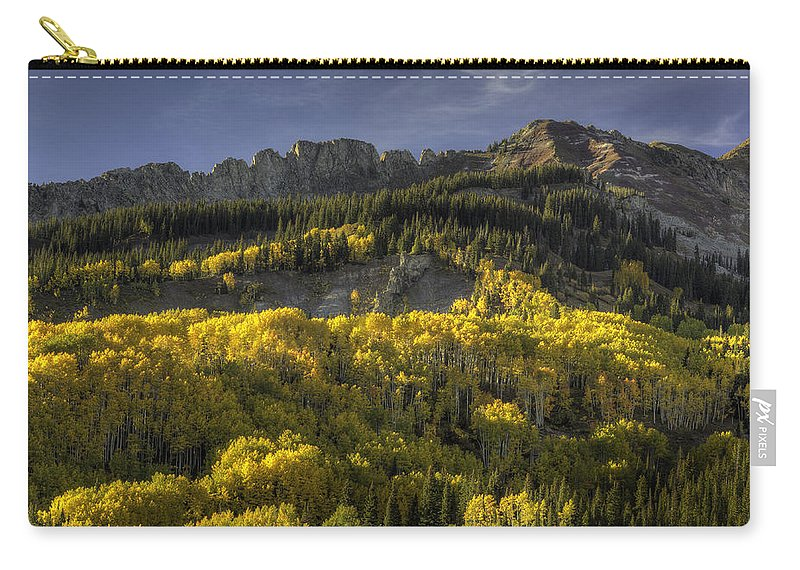 Landscape Carry-all Pouch featuring the photograph Dinosaur Back Autumn by Bill Sherrell