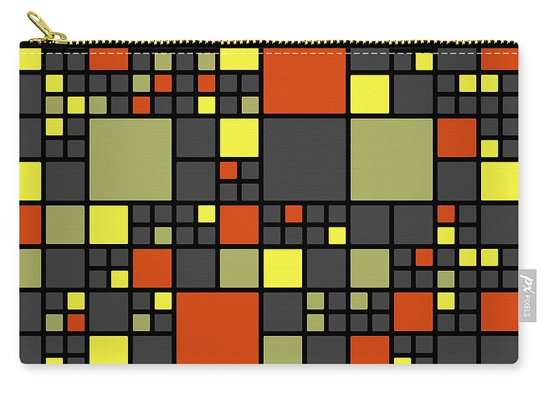 Abstract Carry-all Pouch featuring the digital art Dio - 07ml02 by Variance Collections