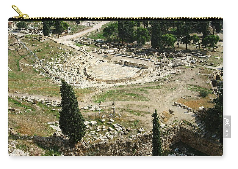 Dionysus Theater Carry-all Pouch featuring the photograph Dionysus Amphitheater by Ellen Henneke