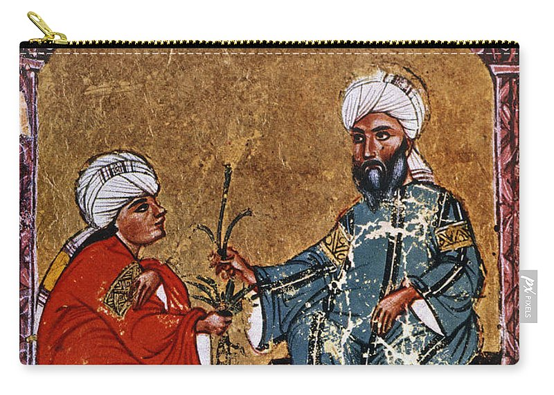 1229 Carry-all Pouch featuring the photograph Dioscorides And Student by Granger