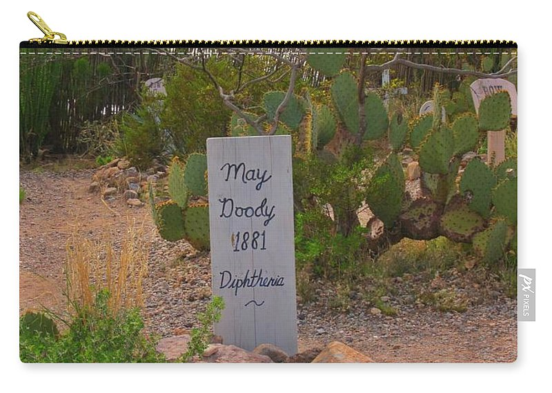 Boothill Cemetery Carry-all Pouch featuring the photograph Diphtheria Victim by John Malone