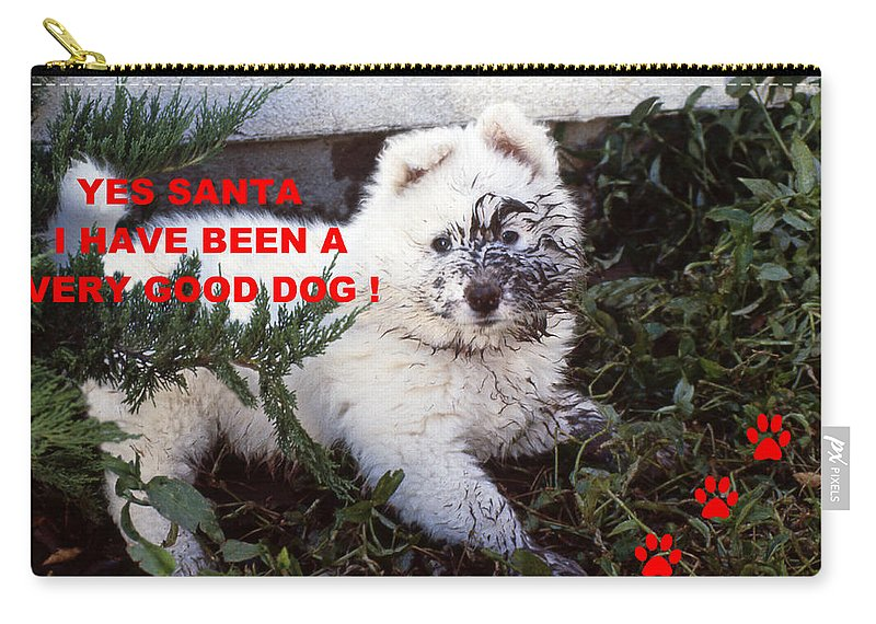 Dirty Dog Christmas Card Carry All Pouch For Sale By Ginny Barklow