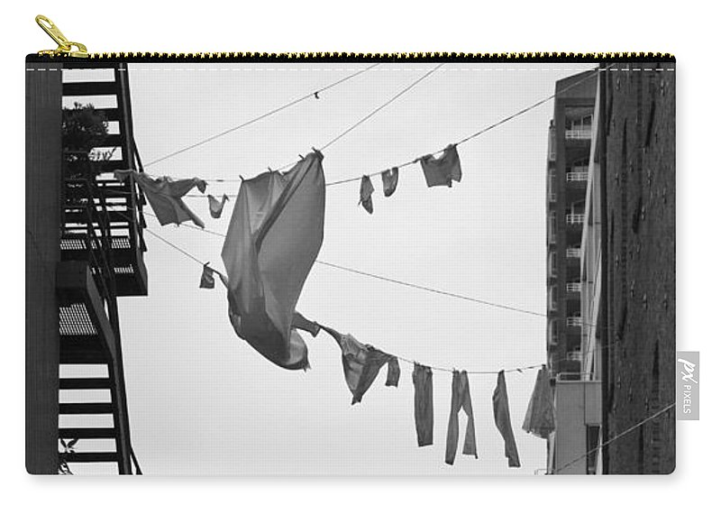 Hanging Laundry Carry-all Pouch featuring the photograph Dirty Laundry by Scott Campbell
