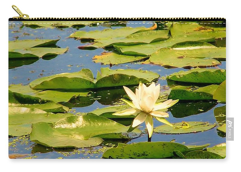 Lilly Carry-all Pouch featuring the photograph Dirty Monet by Art Dingo
