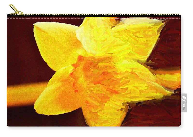 Bloom Carry-all Pouch featuring the painting Disintegration by Jeffrey Kolker